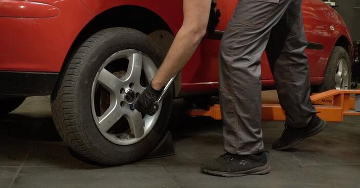 Pasikeiskite SEAT Ibiza III Hatchback (6L) 1.2 2008 Spyruoklės patys - internetinė instrukcija