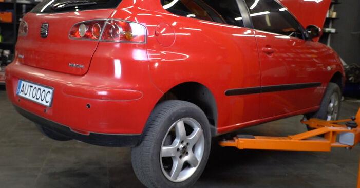Seat Ibiza 6l1 1.4 16V 2004 Supporto Ammortizzatore sostituzione: manuali dell'autofficina