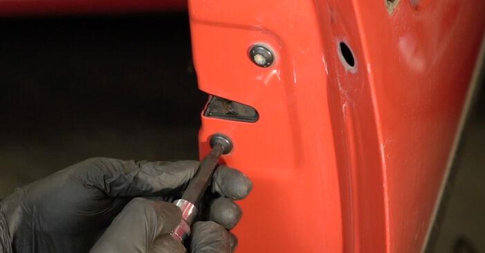 Seat Ibiza 6l1 1.4 16V 2004 Kljucavnice zunaj zamenjava: brezplačni priročnik delavnice