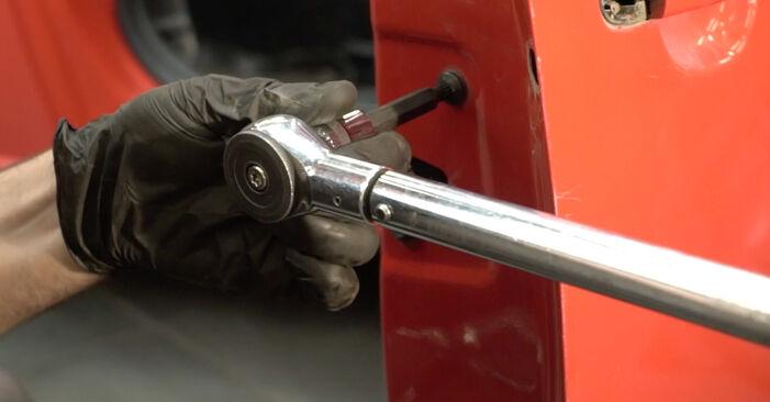 Kako odstraniti SEAT IBIZA 1.4 TDI 2006 Kljucavnice zunaj - spletna, enostavna za sledenje, navodila