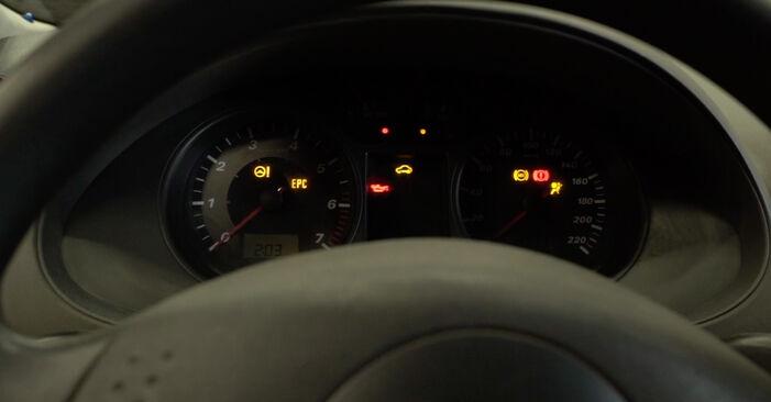 Kako težko to naredite sami: Kljucavnice zunaj zamenjava na Seat Ibiza 6l1 1.9 TDI 2008 - prenesite slikovni vodnik