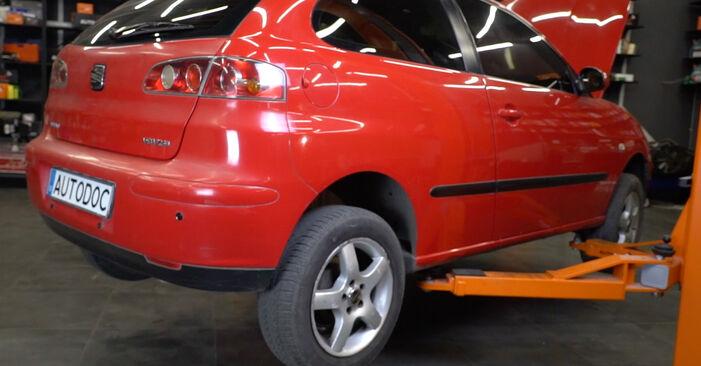 Seat Ibiza 6l1 1.4 16V 2004 Kolesni lezaj zamenjava: brezplačni priročnik delavnice