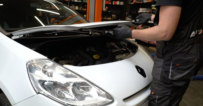 How to change Poly V-Belt on Renault Clio 3 2005 - free PDF and video manuals