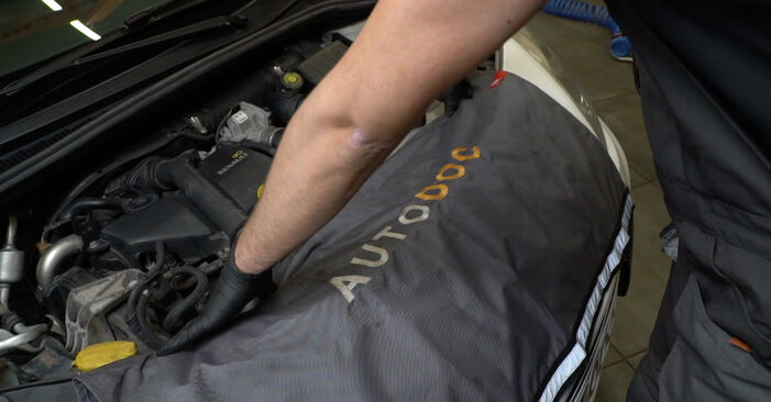 How to replace RENAULT Clio III Hatchback (BR0/1, CR0/1) 1.5 dCi 2006 Poly V-Belt - step-by-step manuals and video guides