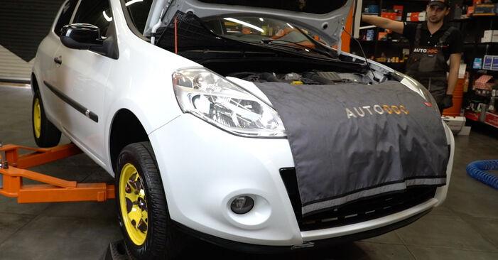 Renault Clio 3 1.2 16V 2007 Vezetőkar fej cseréje: ingyenes szervizelési útmutatók