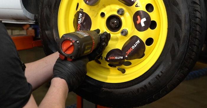 Wie Bremsscheiben RENAULT Clio III Schrägheck (BR0/1, CR0/1) 1.2 16V 2006 austauschen - Schrittweise Handbücher und Videoanleitungen