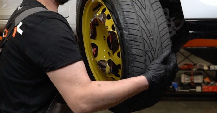 Wie schwer ist es, selbst zu reparieren: Bremsbeläge Renault Clio 3 1.2 16V 2011 Tausch - Downloaden Sie sich illustrierte Anleitungen
