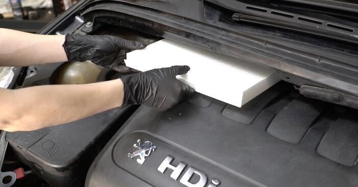 Как да демонтираме PEUGEOT 307 2.0 HDi 135 2004 Филтър купе - онлайн лесни за следване инструкции