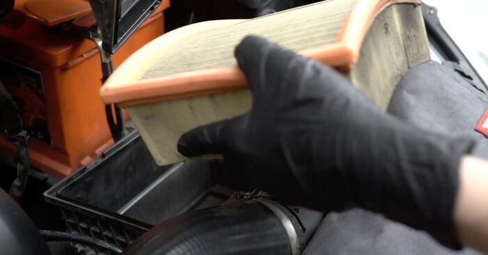 How to remove PEUGEOT 307 2.0 HDi 135 2004 Air Filter - online easy-to-follow instructions