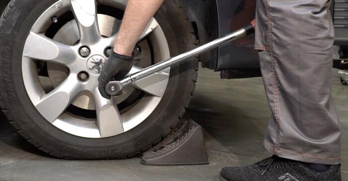 Austauschen Anleitung Spurstangenkopf am Peugeot 307 SW 2010 1.6 HDI 110 selbst