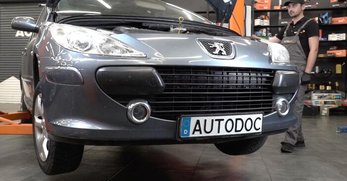 Spurstangenkopf Peugeot 307 SW 2.0 HDI 110 2002 wechseln: Kostenlose Reparaturhandbücher