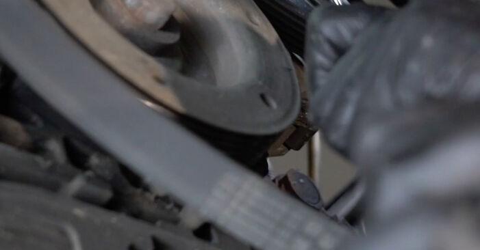 Peugeot 307 SW 1.6 16V 2002 Courroie Trapézoïdale à Nervures remplacement : manuels d'atelier gratuits