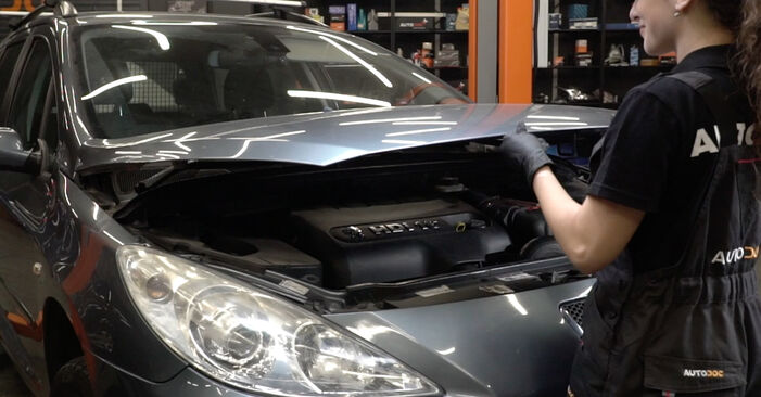 Hogyan Peugeot 307 SW 2000 Fékbetét cseréje - ingyenes PDF és videó-útmutatók
