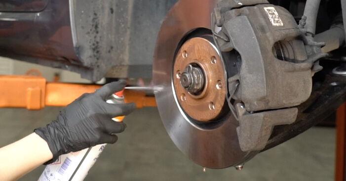 Wie schwer ist es, selbst zu reparieren: Bremsbeläge Peugeot 307 SW 1.6 HDI 90 2006 Tausch - Downloaden Sie sich illustrierte Anleitungen