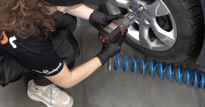 Wie PEUGEOT 307 2.0 HDi 135 2004 Bremsbeläge ausbauen - Einfach zu verstehende Anleitungen online