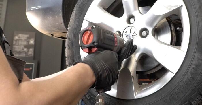 Austauschen Anleitung Bremsscheiben am Peugeot 307 SW 2010 1.6 HDI 110 selbst