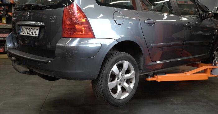Radlager Peugeot 307 SW 2.0 HDI 110 2002 wechseln: Kostenlose Reparaturhandbücher