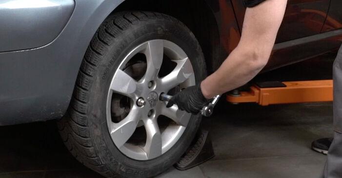 Austauschen Anleitung Radlager am Peugeot 307 SW 2010 1.6 HDI 110 selbst