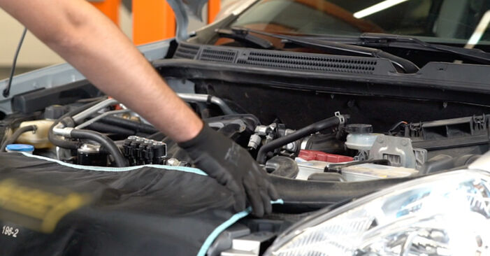 How to replace NISSAN Qashqai / Qashqai +2 I (J10, NJ10) 1.5 dCi 2007 Spark Plug - step-by-step manuals and video guides