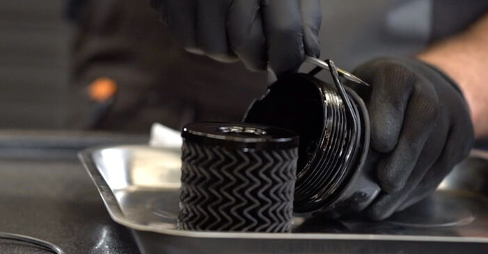 Changing of Oil Filter on Peugeot 308 I 2015 won't be an issue if you follow this illustrated step-by-step guide