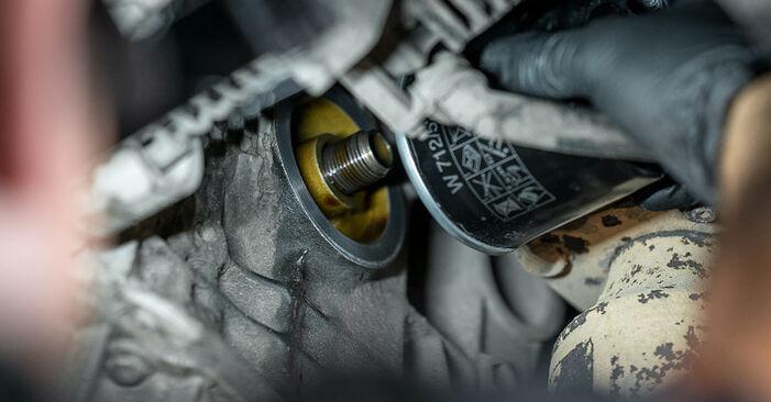 VW CADDY 1.9 TDI Olejovy filtr výměna: online návody a video tutoriály