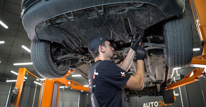 VW Caddy 3 1.6 TDI 2006 Filtro Olio sostituzione: manuali dell'autofficina