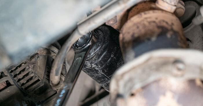 Jaké náročné to je, pokud to budete chtít udělat sami: Olejovy filtr výměna na autě VW Caddy 3 2.0 SDI 2010 - stáhněte si ilustrovaný návod