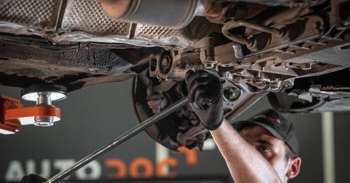 VW CADDY 1.6 TDI Querlenker ausbauen: Anweisungen und Video-Tutorials online
