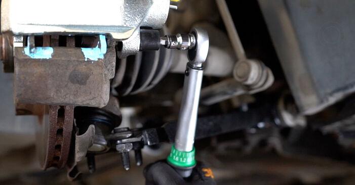 Cum să demontați VW CADDY 2.0 TDI 16V 2008 Etrier frana - instrucțiunile online ușoare de urmărit