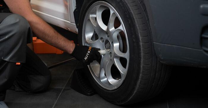 Cum să înlocuiți VW Caddy III Break (2KB, 2KJ, 2CB, 2CJ) 1.9 TDI 2005 Etrier frana – manualele pas cu pas și ghidurile video