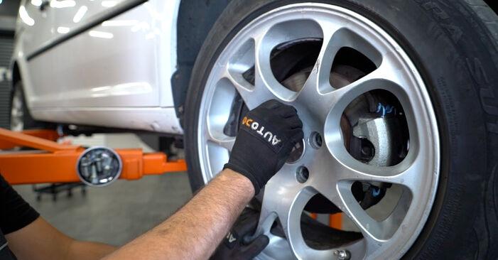 Schimbare Etrier frana la VW Caddy 3 2014 1.9 TDI de unul singur