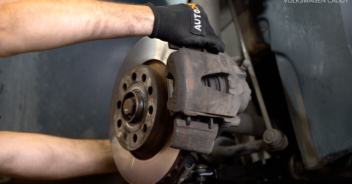 How to replace Brake Calipers on VW Caddy III Estate (2KB, 2KJ, 2CB, 2CJ) 2009: download PDF manuals and video instructions