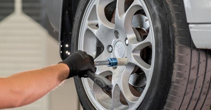 Wie VW CADDY 1.6 2008 Bremssattel ausbauen - Einfach zu verstehende Anleitungen online