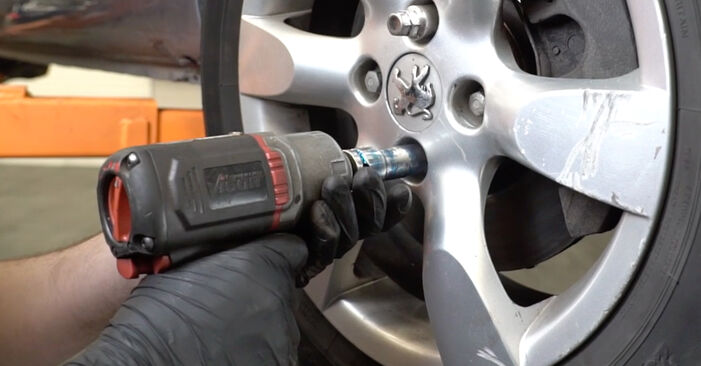 Changing Control Arm on PEUGEOT 307 SW (3H) 2.0 16V 2003 by yourself