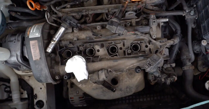 Replacing Spark Plug on VW Caddy 3 2014 1.9 TDI by yourself