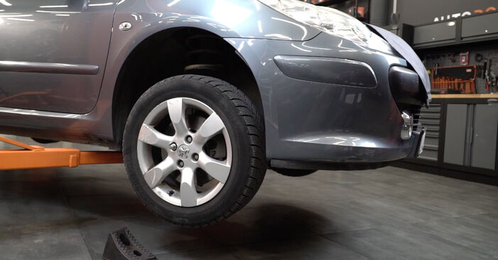 Peugeot 307 SW 1.6 16V 2002 Wheel Bearing replacement: free workshop manuals