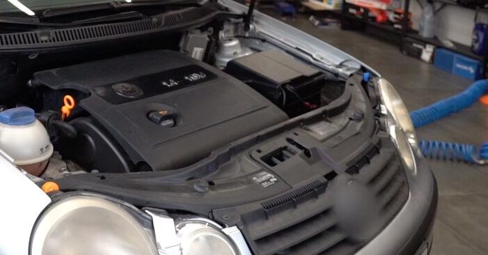 VW POLO 2008 Маслен филтър стъпка по стъпка наръчник за смяна
