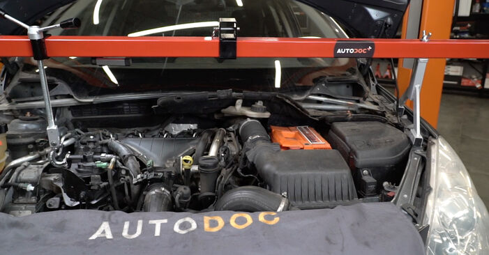 How to change Water Pump + Timing Belt Kit on Peugeot 307 SW 2000 - free PDF and video manuals