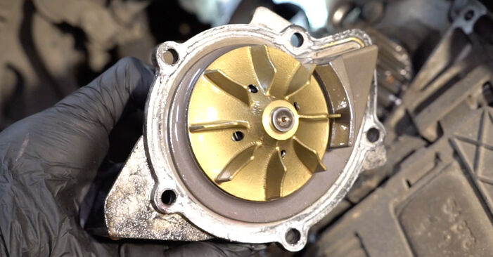 How to replace PEUGEOT 307 SW (3H) 1.6 HDI 110 2001 Water Pump + Timing Belt Kit - step-by-step manuals and video guides