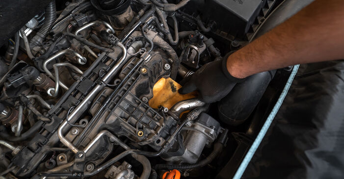 How to remove VW TOURAN 1.2 TSI 2014 Oil Filter - online easy-to-follow instructions