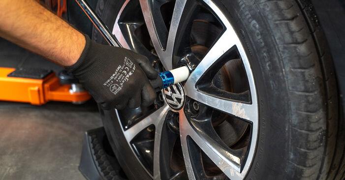 Kaip pakeisti VW TOURAN (1T3) 1.6 TDI 2011 Amortizatorius - išsamios instrukcijos ir vaizdo pamokos