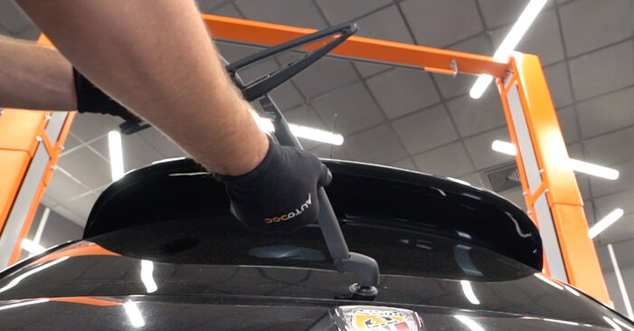 Changing Wiper Blades on ABARTH 500 / 595 / 695 Hatchback (312_) 1.4 (312.AXY11, 312.AXY1A) 2011 by yourself