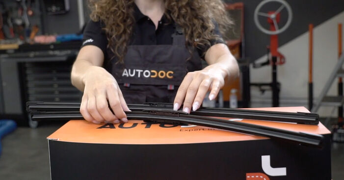 How to change Wiper Blades on Audi A4 B7 Saloon 2004 - free PDF and video manuals