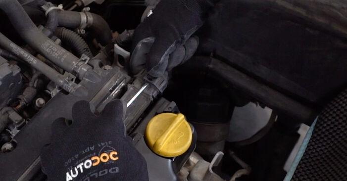 Opel Astra g f48 1.6 (F08, F48) 2000 Vzigalna svecka zamenjava: brezplačni priročnik delavnice