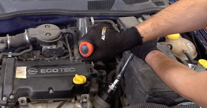 Replacing Oil Filter on Opel Astra g f48 2008 1.6 16V (F08, F48) by yourself