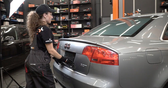 DIY replacement of Tailgate Struts on AUDI A4 Saloon (8EC, B7) 2.0 TDI 2008 is not an issue anymore with our step-by-step tutorial