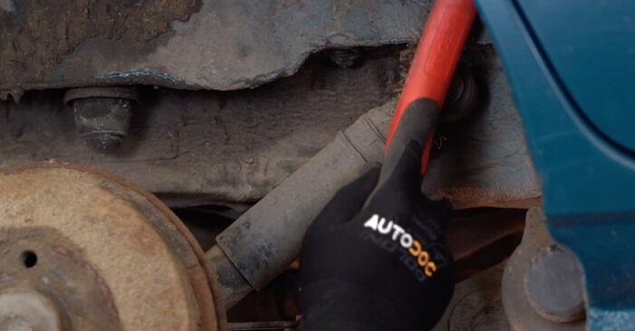 Wie schwer ist es, selbst zu reparieren: Stoßdämpfer Renault Kangoo kc01 1.9 dTi 2003 Tausch - Downloaden Sie sich illustrierte Anleitungen