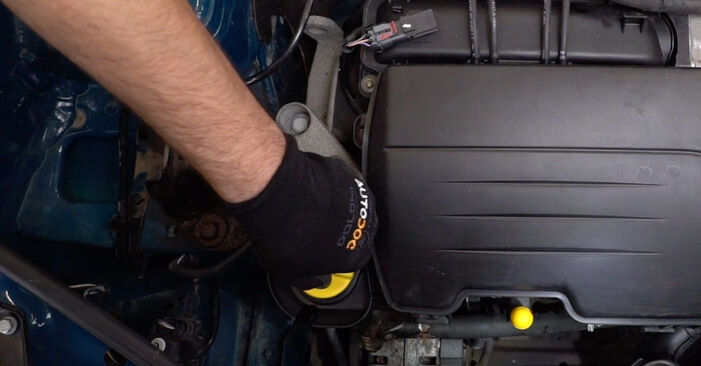 How to remove RENAULT KANGOO 1.2 16V 2001 Oil Filter - online easy-to-follow instructions