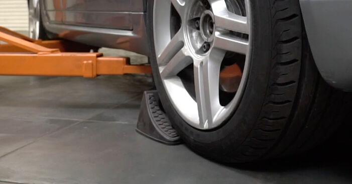 Wie Bremsscheiben AUDI A4 Limousine (8EC, B7) 1.9 TDI 2005 austauschen - Schrittweise Handbücher und Videoanleitungen