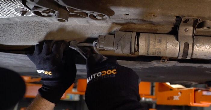 Wie schwer ist es, selbst zu reparieren: Kraftstofffilter BMW E90 325d 3.0 2006 Tausch - Downloaden Sie sich illustrierte Anleitungen